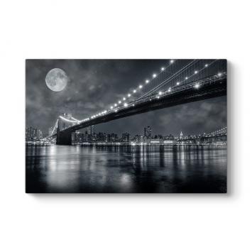 Köprü Işıkları Panorama Tablo