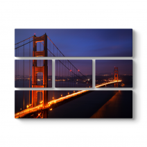 Golden Gate Manzarası Tablosu