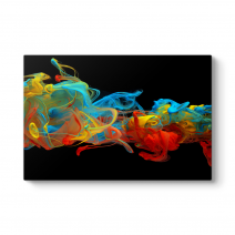 Colorful Swirl Panorama Tablo
