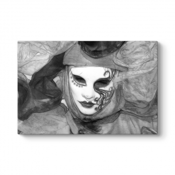Siyah Beyaz Maske Tablosu