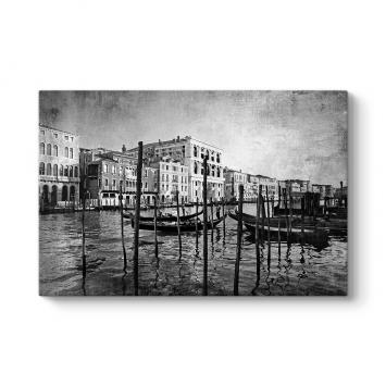 Venedik Siyah Beyaz Tablo
