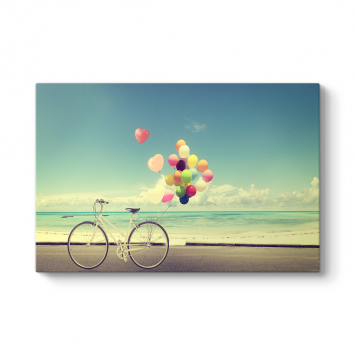 Bisiklet ve Balonlar Tablosu