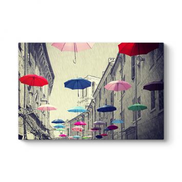 Rengarenk Şemsiyeler Tablosu
