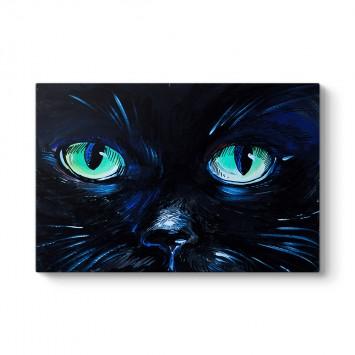 Mavi Kedi Gözleri Tablosu