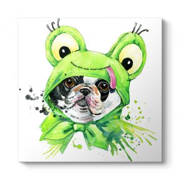 Kostümlü French Bulldog Tablosu