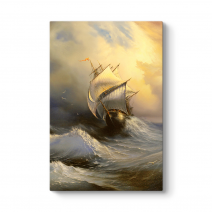 Dalgalı Denizde Gemi Tablosu