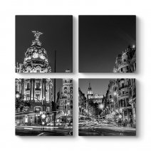 Madrid Grand Via Tablosu