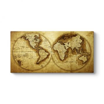 Antik Dünya Haritası Tablosu