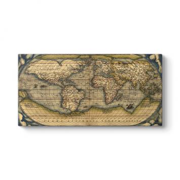 Eski Dünya Haritası Tablosu