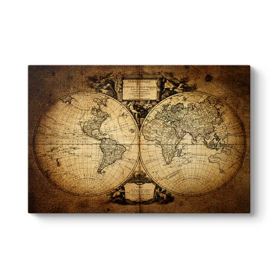 Mitolojik Dünya Haritası Tablosu