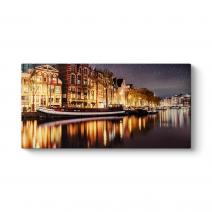 Yıldızlı Amsterdam Gecesi Tablosu