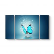 Sihirli Mavi Kelebek Tablosu