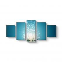 Işıltılı Mavi Nilüfer Tablosu