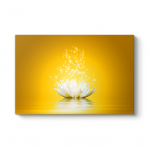 Işıltılı Sarı Nilüfer Çiçeği Tablosu