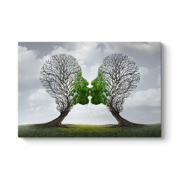 Sevgiyle Yeşeren Ağaçlar Tablosu