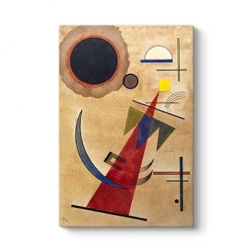Wassily Kandinsky - Rot in Spitzform Tablosu