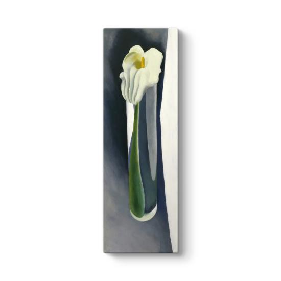 Georgia OKeeffe - Calla Lily in Tall Glass Tablosu