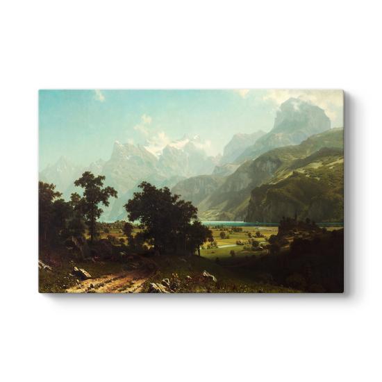 Albert Bierstadt - Lake Lucerne Tablosu