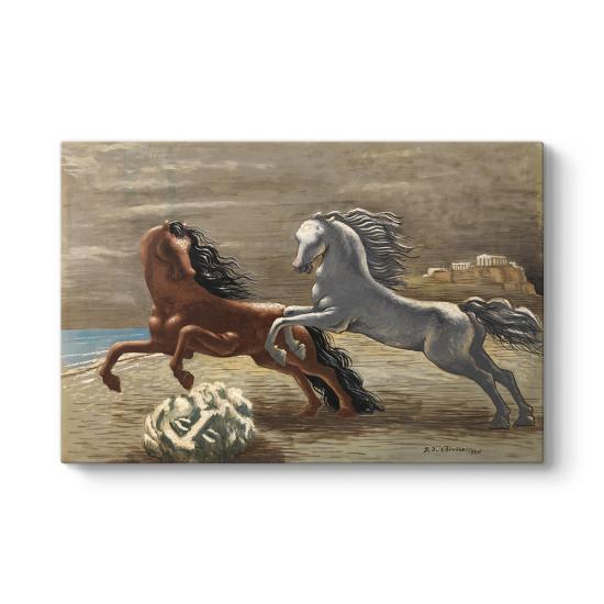 Chirico Giorgio - Cavalli in riva al mare Tablosu