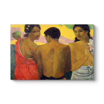 Paul Gauguin - Three Tahitians Tablosu