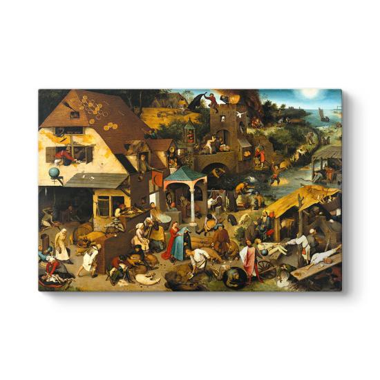 Pieter Brueghel - The Dutch Proverbs Tablosu
