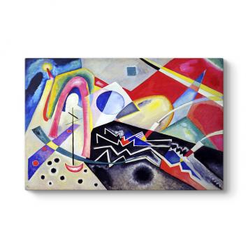 Wassily Kandinsky - White Zig Zags Tablosu
