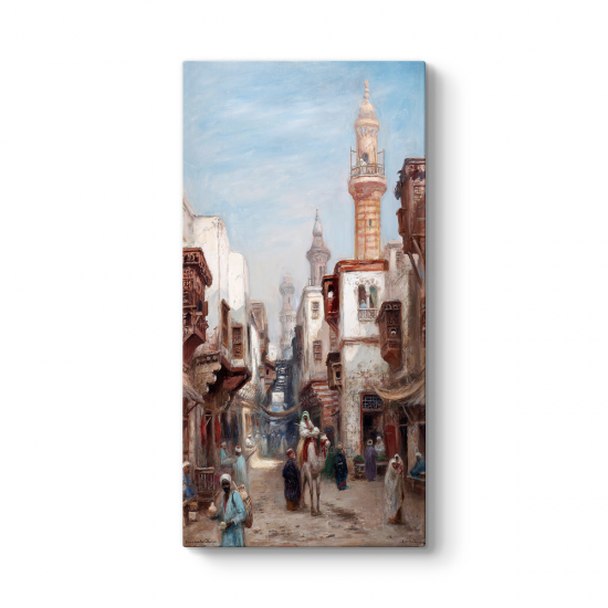 Frans Wilhelm Odelmark - Kahire Çarşı Caddesi Tablosu