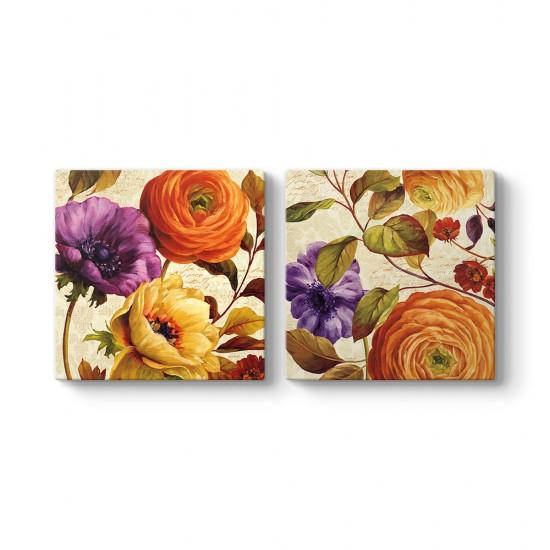 Modern Çizim Çiçekler Tablosu