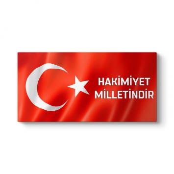 Hakimiyet Milletindir - Türk Bayrağı