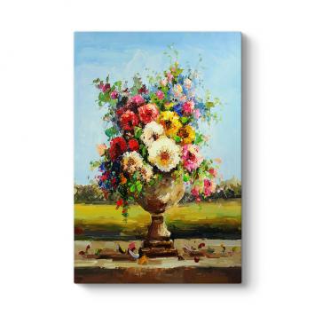 Yağlıboya Çizim Çiçek Tablosu