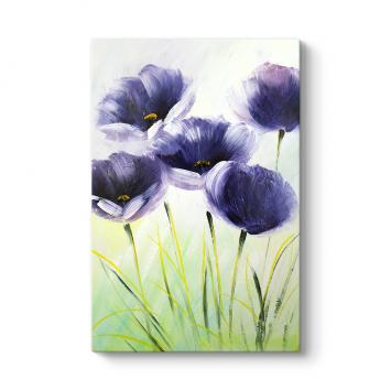 Mor Çiçekler Duvar Tablosu
