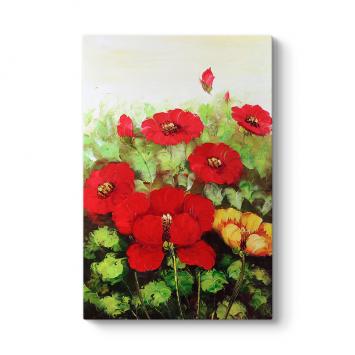 Kırmızı Bahar Çiçeği Tablosu