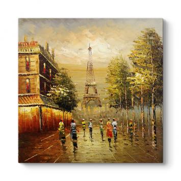 Klasik Paris Eyfel Kulesi Tablosu