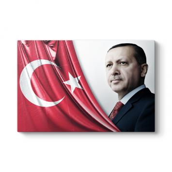 Türk Bayrağı Recep Tayyip Erdoğan Tablosu