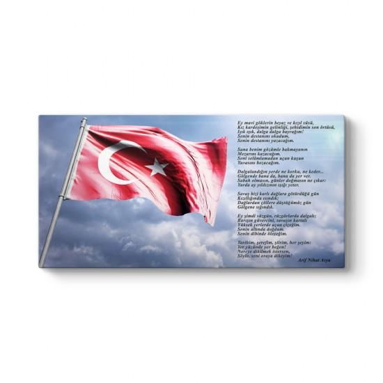 Arif Nihat Asya - Bayrak Şiiri Tablosu