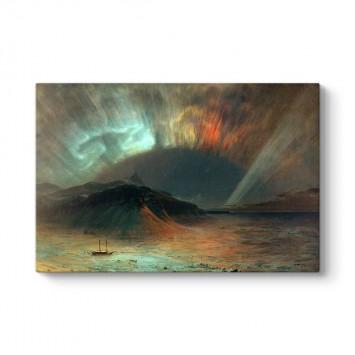 Frederic Edwin Church - Aurora Borealis Tablosu