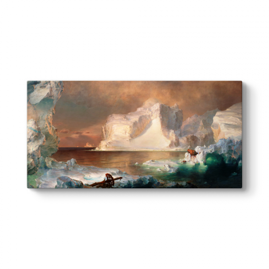Frederic Edwin Church - The Icebergs Tablosu