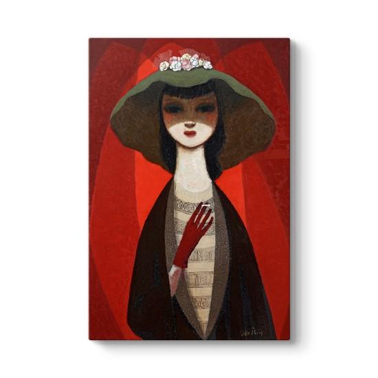 Pelle Aberg - Lady With Cigarette Tablosu