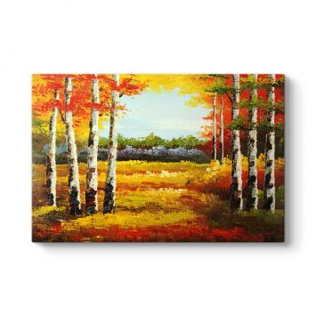Yağlıboya Çizim Orman Tablosu