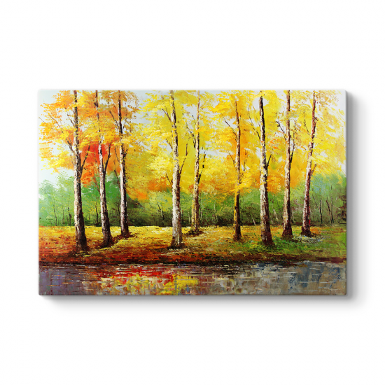 Sonbahar Ağaç Yaprakları Tablosu