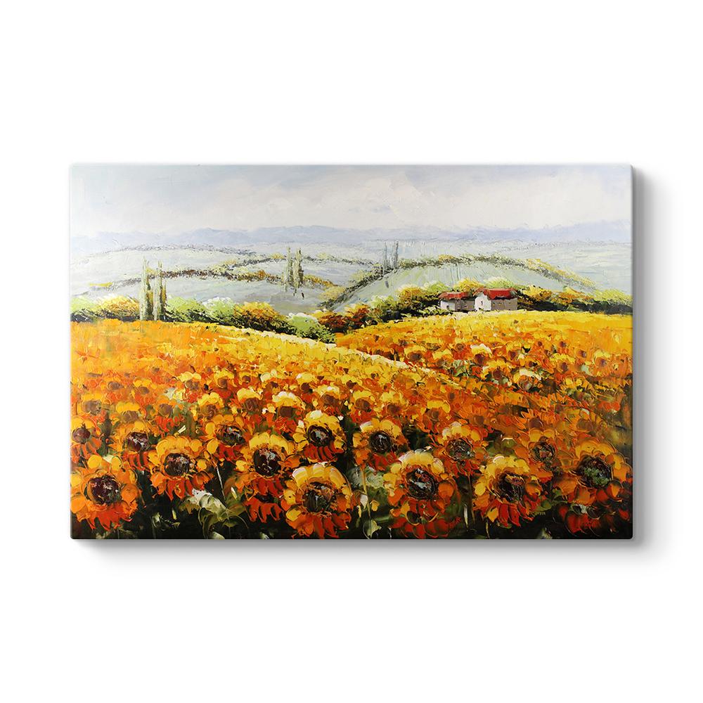 ayçiçeği tarlası tablosu