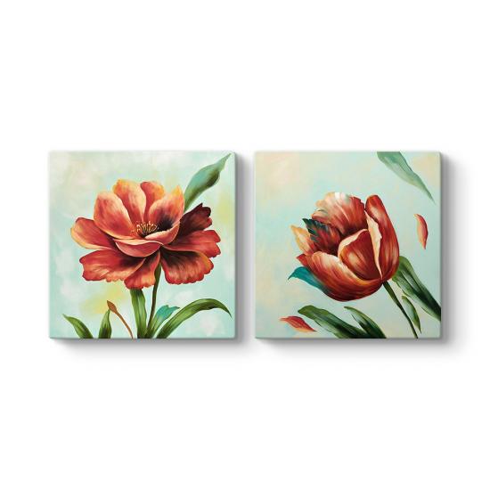 Kırmızı Çiçekler Duvar Tablosu