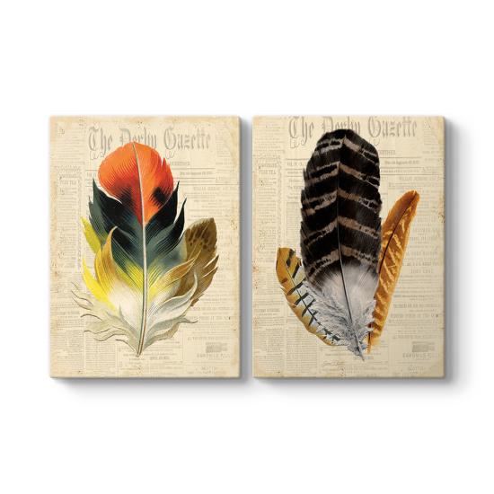 Modern Kuş Tüyleri Tablosu