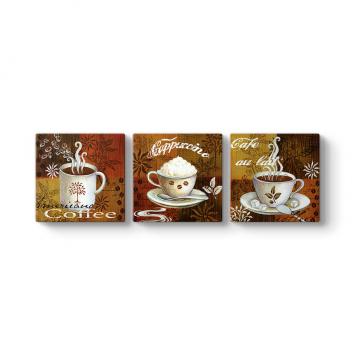 Kahve Çeşitleri Duvar Tablosu