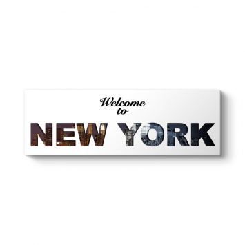 Welcome to New York Panorama Tablo