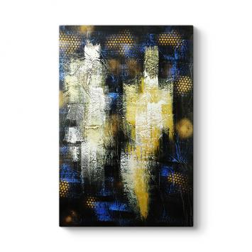 Sarı ve Lacivert Tablo