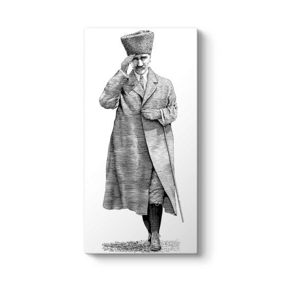 Atatürk Selam Verirken Tablosu