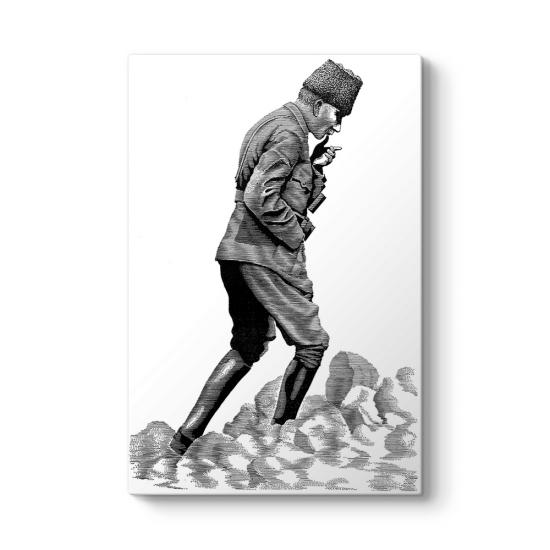 Siyah Beyaz Ataturk Kocatepe Tablosu