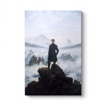Caspar David Friedrich - Bulutların Üzerinde Yolculuk Tablosu