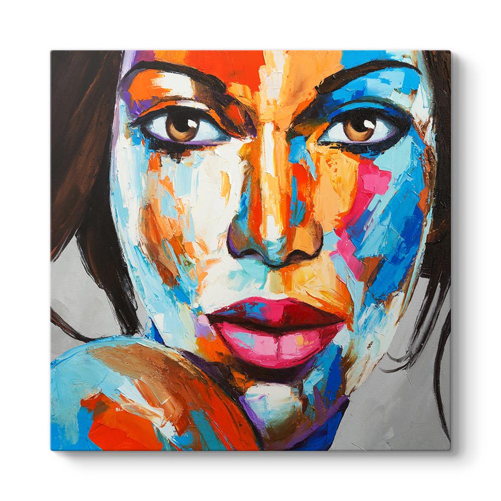 Sanatsal Kadın Yüzü Tablosu